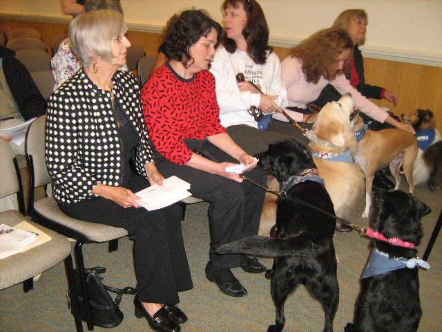 Dorothy Yost at PAWS program